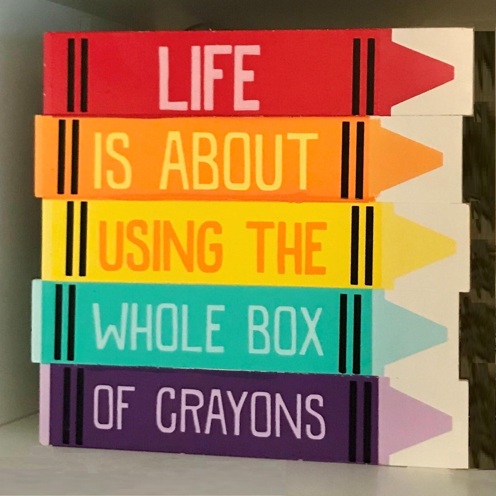 Are you using all your crayons? Every day?